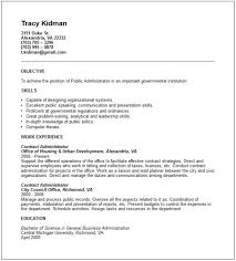 Public Administrator Sample Resume Simple Public Administration Resume Resume Sample
