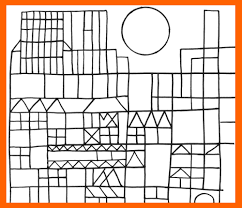 Paul Klee Paul Klee Coloring Pages On Freshcolscom