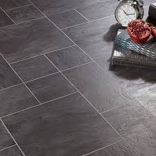 Kitchen Floor Tiles Bq Libretto Black Slate Effect Laminate Flooring 186 Ma2 Pack