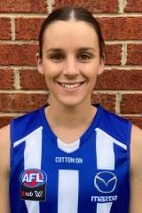 AFLW 2021   Shaun Smith supportive of daughter Amy, signed by North  Melbourne