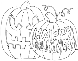 Small Picture Happy Halloween Pumpkin Coloring Pages To Color Hallowen