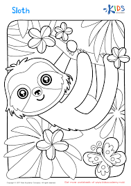 Discover our free coloring pages for kids. Sloth Coloring Page Coloring Pages For Boys Printable Coloring Pages Free Coloring Pages
