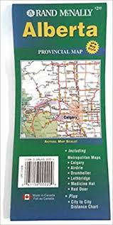 Canadian City Distance Chart Rand Mcnally Alberta Provincial Map Canadian Maps Rand
