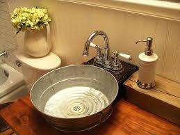 tin bucket sink galvanized tub sink bathroom craftsman with bathroom bucket sink