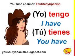 Spanish Lesson 20 Conjugate Spanish Verb Tener Conjugation Present Tense To Have In Spanish