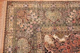 finely woven silk and wool vintage persian tabriz rug for 2