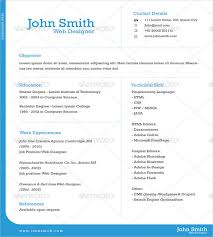 Pages Templates Resume Adorable one page resume template free