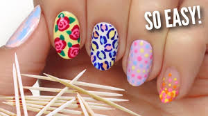 Nail Art For Beginners Using A TOOTHPICK! - YouTube