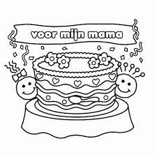 Kleurplaten Oma 80 Jaar Hard Kleurplaat Mama Jarig Werkbladen En