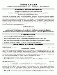 Sample Resume Sales And Marketing Custom Executive Resume Samples Best Executive Resume Samples Jesse Kendall