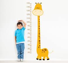 Kids Height Chart Yellow Giraffe Height Chart Kids Sticker
