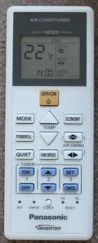 Changing The Time On The Panasonic AirConditioner Remote Control Air Conditioning Remote
