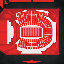 Papa Johns Cardinal Stadium Map Art