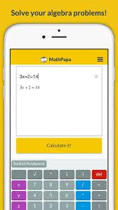mathpapa algebra calculator equation solver app