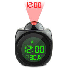 digital lcd display talking projection alarm clock weather station led projection with temperature wake up