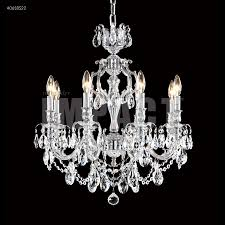brindisi 8 light crystal chandelier in silver with spectra swarovski crystal clear