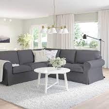 Ektorp Corner Sofa 4 Seat Hallarp Grey Ikea