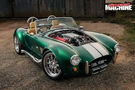 ac cobra. the ac cobra shape has long been the source of some awesome kit cars; contours are timeless and power, whether ford or gm variety, ac