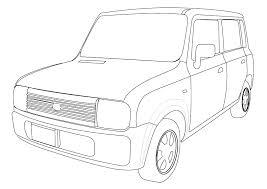 車 塗り絵 トヨタ 無料の印刷用ぬりえ