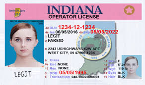 Fake Card Legitfakeid Id Indiana