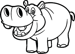 Hippo Hippopotamus Coloring Pages Print Coloring