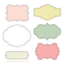 free label frame or gift packaging printables