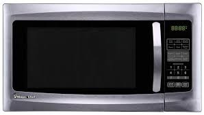 details about magic chef countertop microwave oven 1 6 cu ft 1100 watt power stainless steel