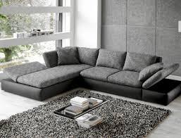 Sofa Extra Tief Wohnlandschaft Ecksofa 326208 Grau Schwarz