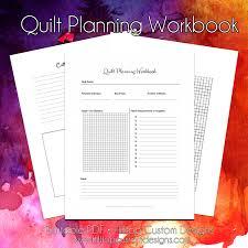 Quilt Planning Workbook - Hilltop Custom Designs & This workbook is a handy printable 8.5