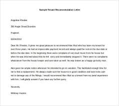 Letter Of Recommendation Tenant Examples Of Letter Recommendation Latest Sample Tenant Word Format