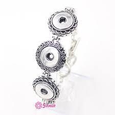 10pcs lot whole diy interchangeable snap jewelry bracelet metal 3 ons snap bracelet for women gift bijoux pulsera