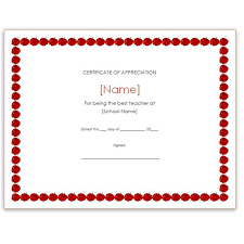 Free Page Border Templates For Microsoft Word Beauteous Free Teacher Appreciation Certificates Download Word And Publisher