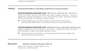 Cna Resume Examples With No Experience Samples Objective Statement