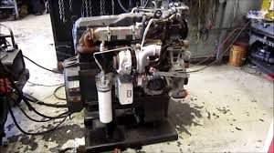 international maxxforce diesel engine running