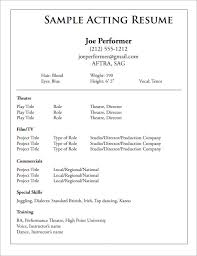 Acting Resume Template Awesome Uk Acting Resume Template Kor60mnet
