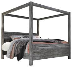 Baystorm King Poster with Canopy Bed in Gray B221KC - Farmhouse ...