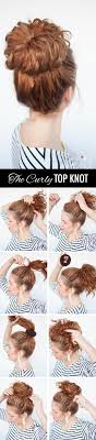 Topknot Hair Style curls week curly top knot hairstyle tutorial hair romance 7909 by wearticles.com