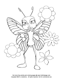 Free Coloring Pages Flowers And Butterflies Coloring Home