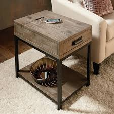 charging end table. Parsons Coffee Table End Side White Gloss Leather Ottoman With Storage Sets Charging E