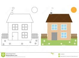 Coloring Page Book For Kids - House Stock Vector - Image: 14446924
