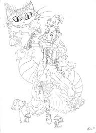 Small Picture cheshire cat coloring pages Google Search Its a draw