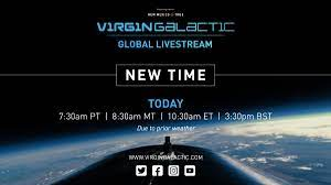 """Virgin Galactic on Twitter: """"NEW TIME ..."""