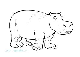 Hippo Coloring Pages Hippo Coloring Pages Hippopotamus New Kids