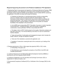 List Of Requirements Denr Llda Certificates Permits Waste
