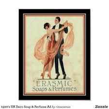 1920's UK Deco <b>Soap</b> & <b>Perfume</b> Ad Poster | Zazzle.com в 2020 г