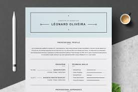 Clean Resume Template Simple Cv Resume Templates Creative Market