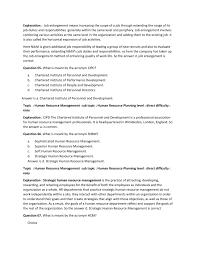 Personnel Management Job Description Marketing Management And Hrm 100 Mcqs Notes