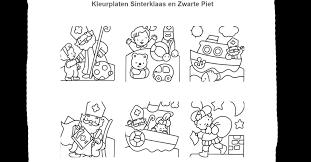 Online Kleurplaat Zwarte Piet Op Een Dak