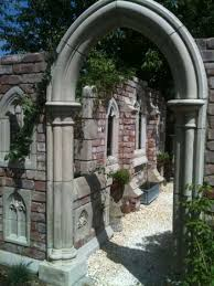 Small Picture Garden Folly Gothic arch Abbey doorway
