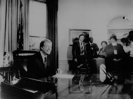 jimmy carter oval office. President Jimmy Carter In Oval Office After Being Inaugurated As 39th President. R